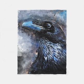 #animals för #bird för kråkakonst#crow fleecefilt
