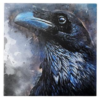 #animals för #bird för kråkakonst#crow kakelplatta