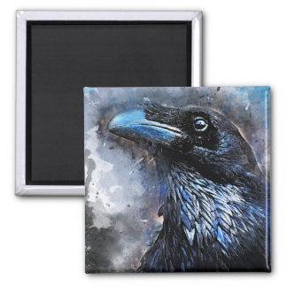 #animals för #bird för kråkakonst#crow magnet