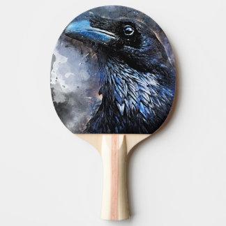 #animals för #bird för kråkakonst#crow pingisracket