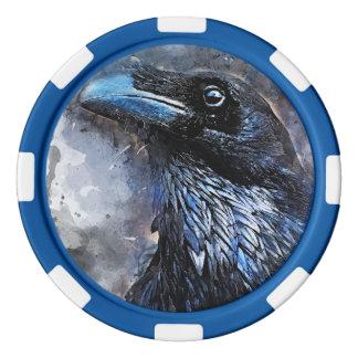#animals för #bird för kråkakonst#crow poker marker