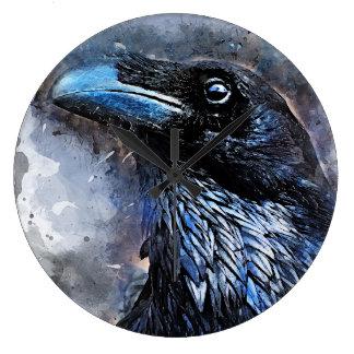 #animals för #bird för kråkakonst#crow stor klocka