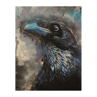 #animals för #bird för kråkakonst#crow trätavla