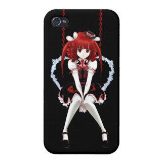 Anime gotiska Lolita - på svart iPhone 4 Fodraler