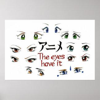 Anime: Ögonen har den Poster