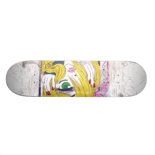 Anime Old School Skateboard Bräda 21,6 Cm