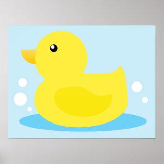 Anka för badTime gult Poster