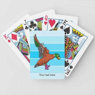 Anka med kängor på illustration spelkort