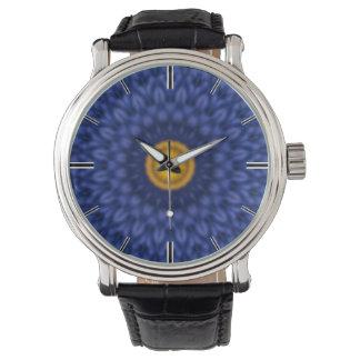 Anka på blåttkaleidoscope… armbandsur