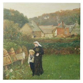 Änkan, 1895 (olja på kanfas) keramiska plattor