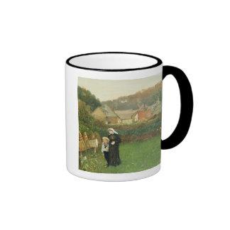 Änkan, 1895 (olja på kanfas) kaffe mugg