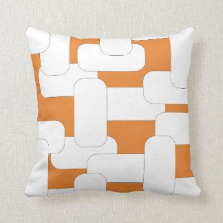Anknuten vit & orange kudde