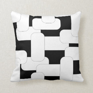 Anknuten vit & svart kudde