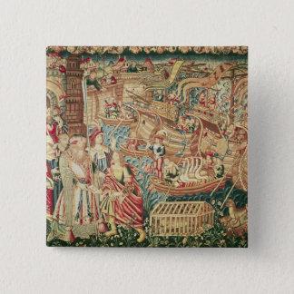 Ankomsten av Vasco da Gama i Calcutta Standard Kanpp Fyrkantig 5.1 Cm
