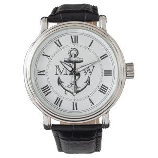 Ankra den nautiska monogramen armbandsur