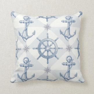 Ankra nautiska seglingfrakter rullar hand plockade kudde