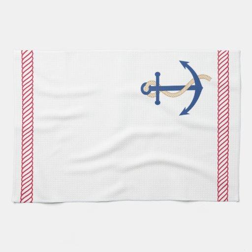 Ankra och Rope den nautiska handduken Kökshanddukar