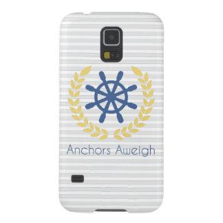 Ankrar Aweigh nautiska frakter rullar randar Galaxy S5 Fodral