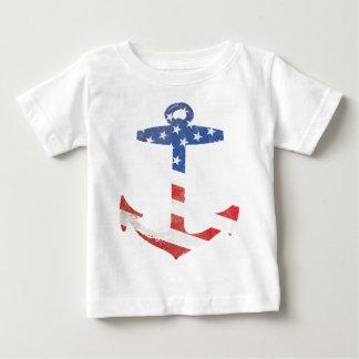 Ankrar den patriotiska amerikanska flaggan för tröjor