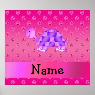 Ankrar kända purpurfärgade sköldpaddarosor för per print