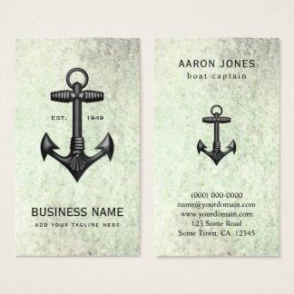 Ankrar svart gjutjärn för vintage nautisk rodd visitkort