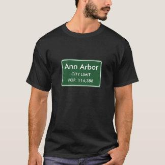 Ann Arbor MI-stad begränsar undertecknar T-shirt
