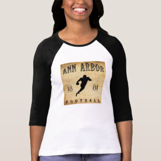 Ann Arbor Michigan fotboll 1881 T-shirt