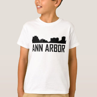 Ann Arbor Michigan stadshorisont T-shirt