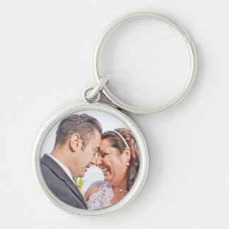Anna & Michael bröllopkeychain Rund Silverfärgad Nyckelring