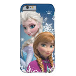 Anna och Elsa med snöflingor Barely There iPhone 6 Skal