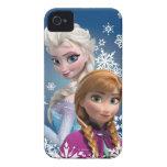 Anna och Elsa med snöflingor iPhone 4 Skydd