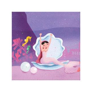 Annabella sjöjungfrun som vaknar upp canvastryck