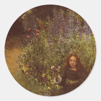 Annalkande Pansies av Laura Teresa Alma-Tadema Runt Klistermärke