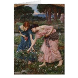 Annalkande rosenknoppar vid den John William Hälsningskort