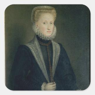 Anne av Österrike, drottning av Spanien Fyrkantigt Klistermärke