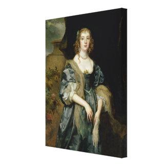 Anne Carr, Countess av Bedford, c.1638 Canvastryck