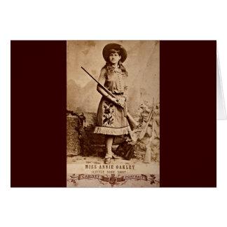 Annie Oakley Sepia Hälsningskort