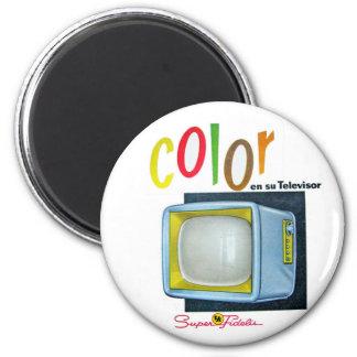 Annons för 60-tal för TV för Viintage hötorgskonst Magnet