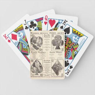 Annons för Alma Rubens 1914 tyst filmutställare Spelkort