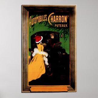 Annons för bil för vintage för Charron motorisk bi Poster