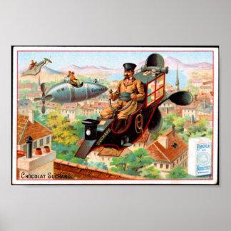 Annons för choklad för affischvintage fransk, poster