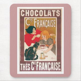 Annons för drink för choklad för choklad~ vintage musmatta