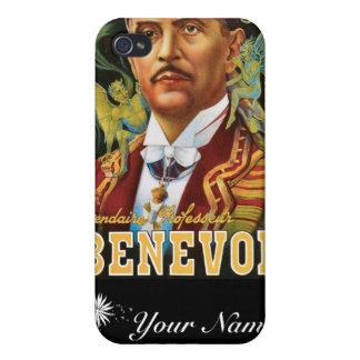 Annons för magi för vintage för trollkarl för Bene iPhone 4 Cover