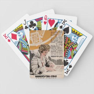 Annons för Marjorie Rambeau 1920 tyst filmutställa Spelkort
