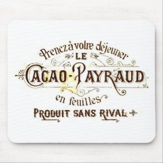 Annons för vintagechokladkakao (retro cafégrunge) musmattor