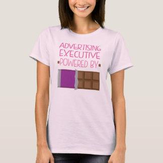 Annonsering av den utöva chokladgåvan för kvinna t shirt