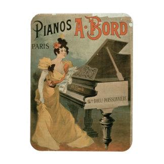 """Annonsering för """"A. Bord Piano, Paris"""" (färg Magnet"""