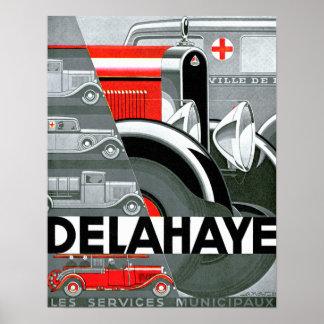 Annonsering för bil för Delahaye ~-vintage Poster