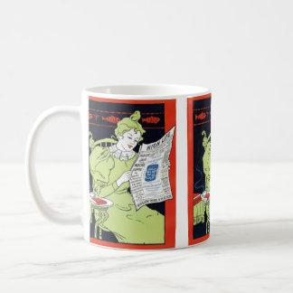 Annonsering för kaffe för vintage1890smocka kaffemugg