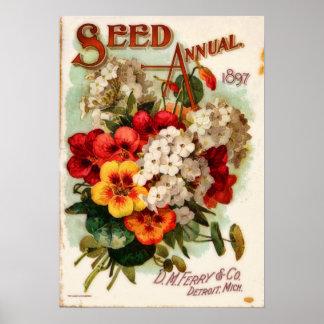 Annonsering för katalog för blomma för poster